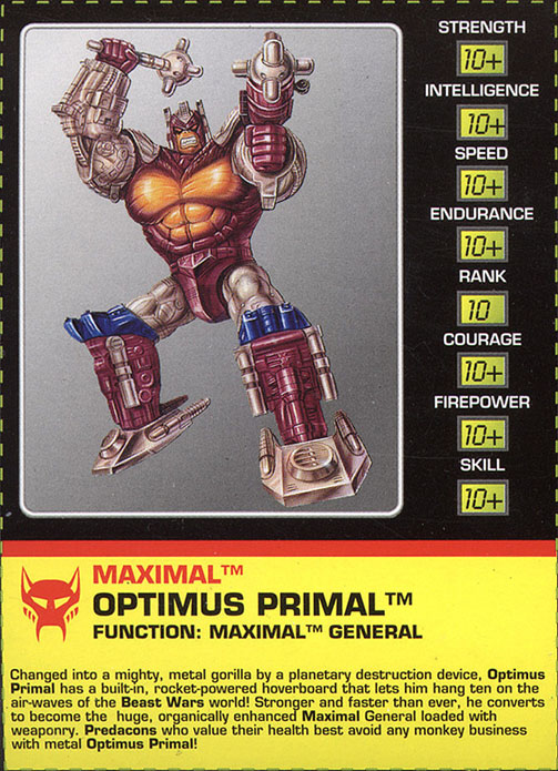 Beast Wars Transmetals Optimus Primal TFArchive - Transforme...